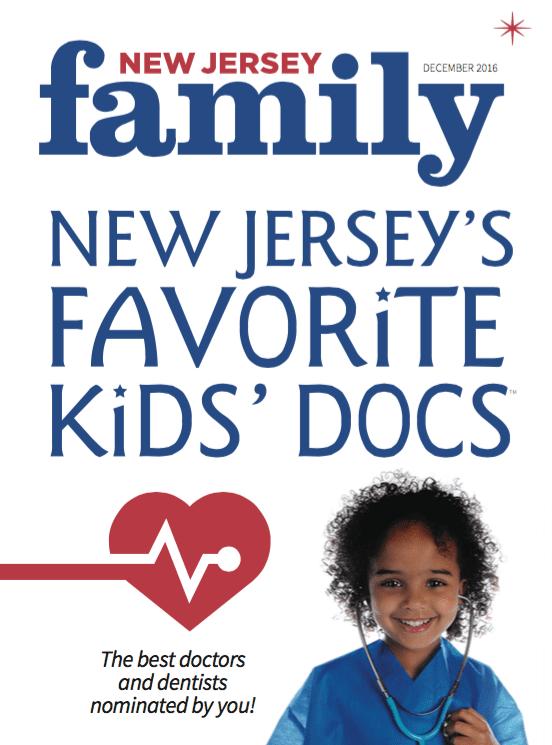 2016 New Jersey Magazine Favorite Kid's Doc Award